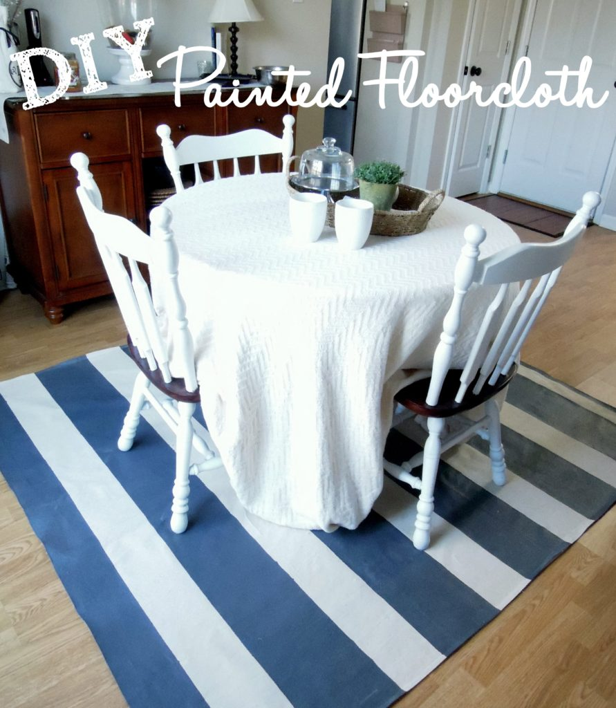 how to make a painted floor cloth