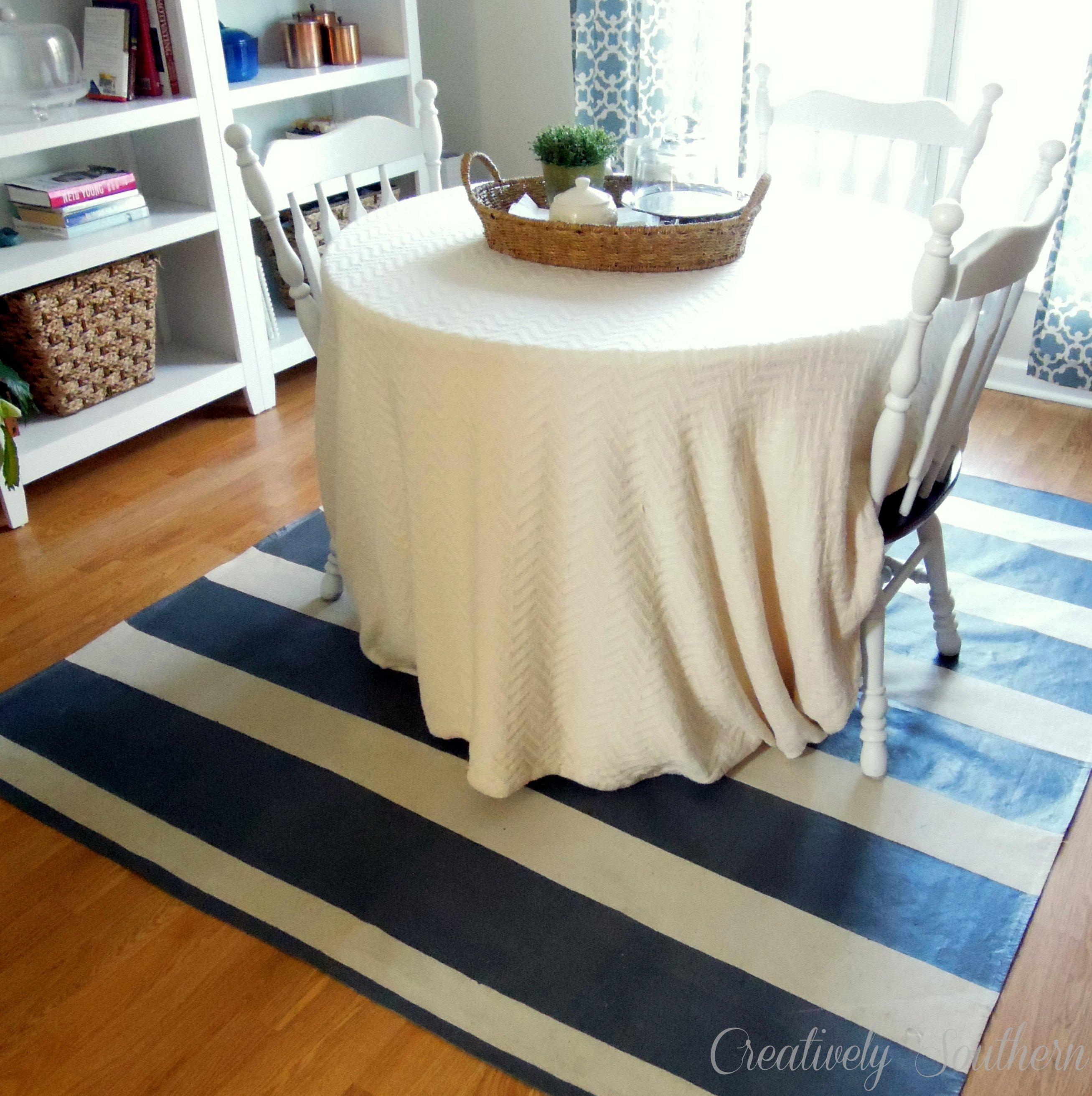 Painted Kitchen Floor Cloth