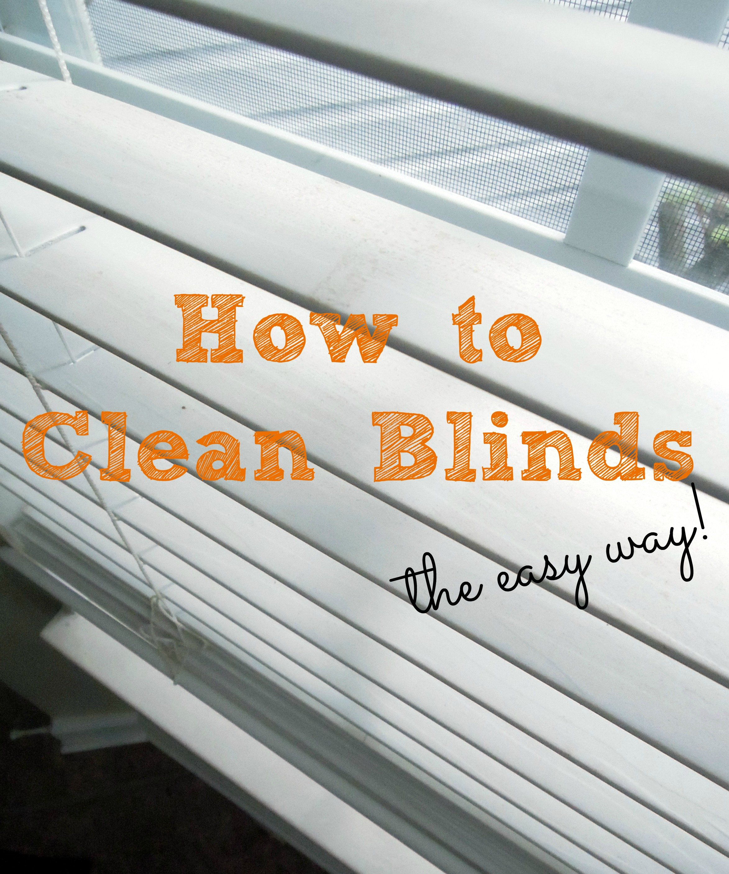 How To Clean Blinds And A Minor Repair