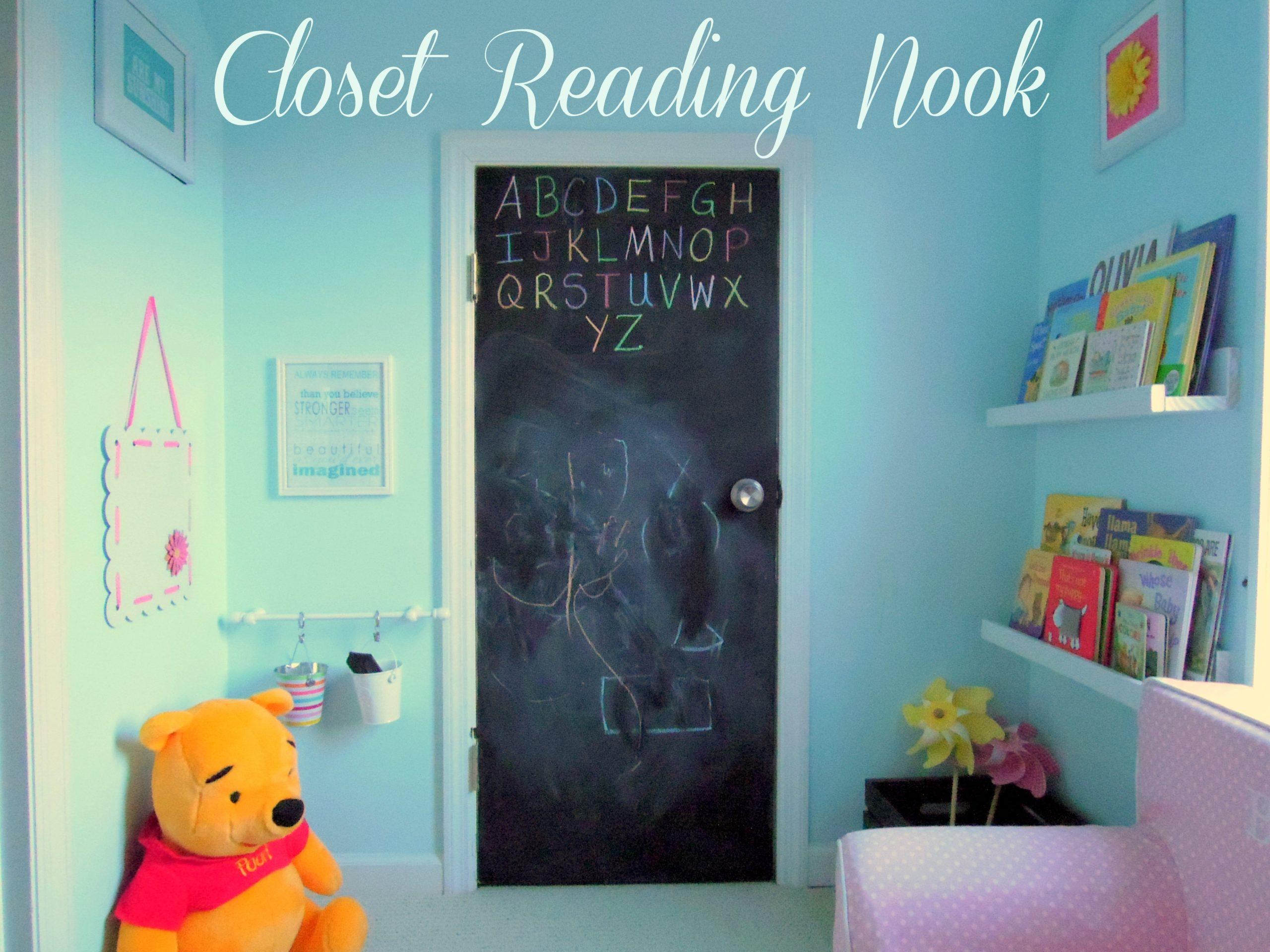 closet reading nook