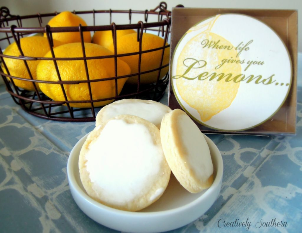 lemon iced cookies