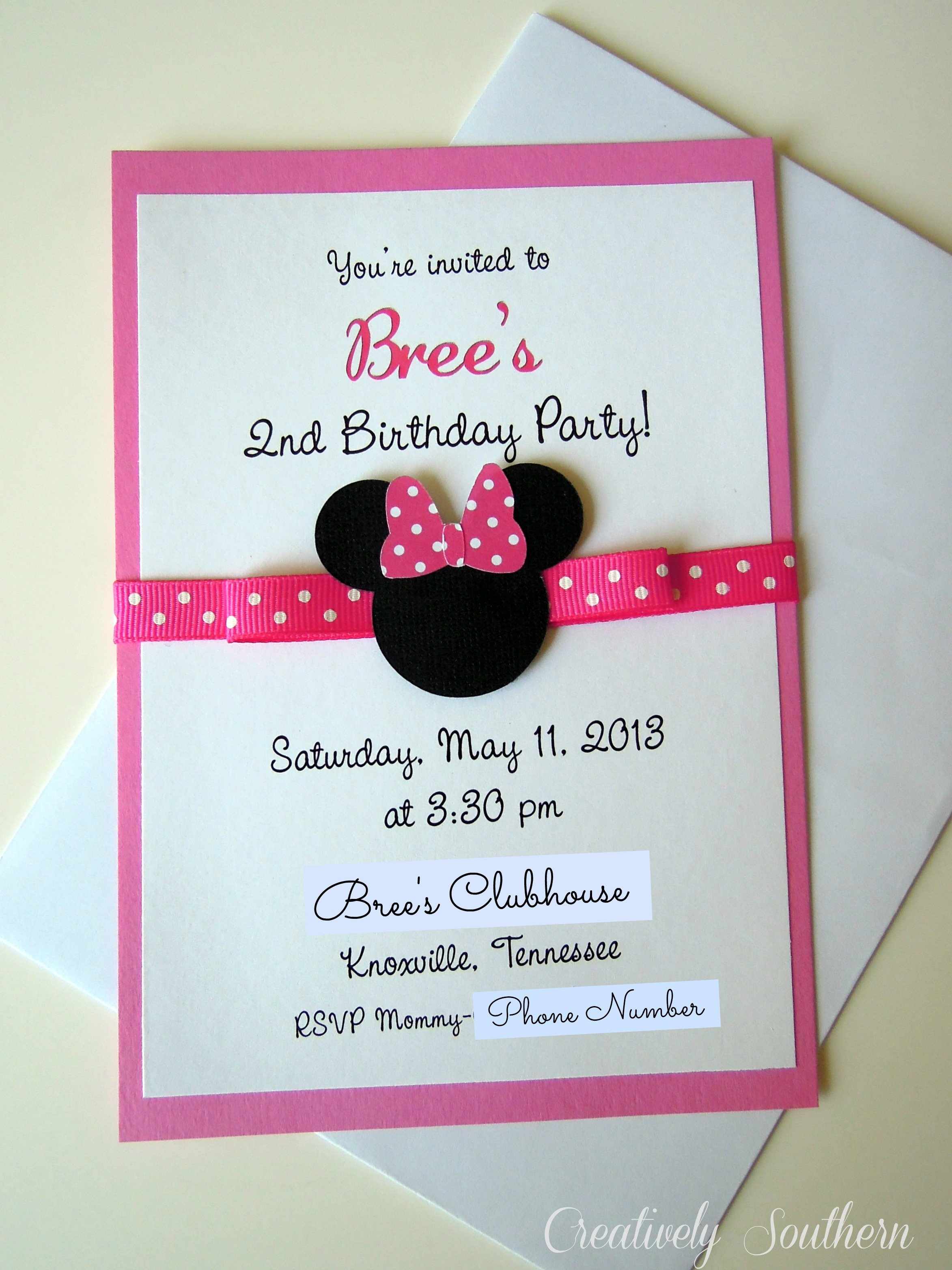 Minnie mouse birthdays and paper mache minnie mouse invitation solutioingenieria Images