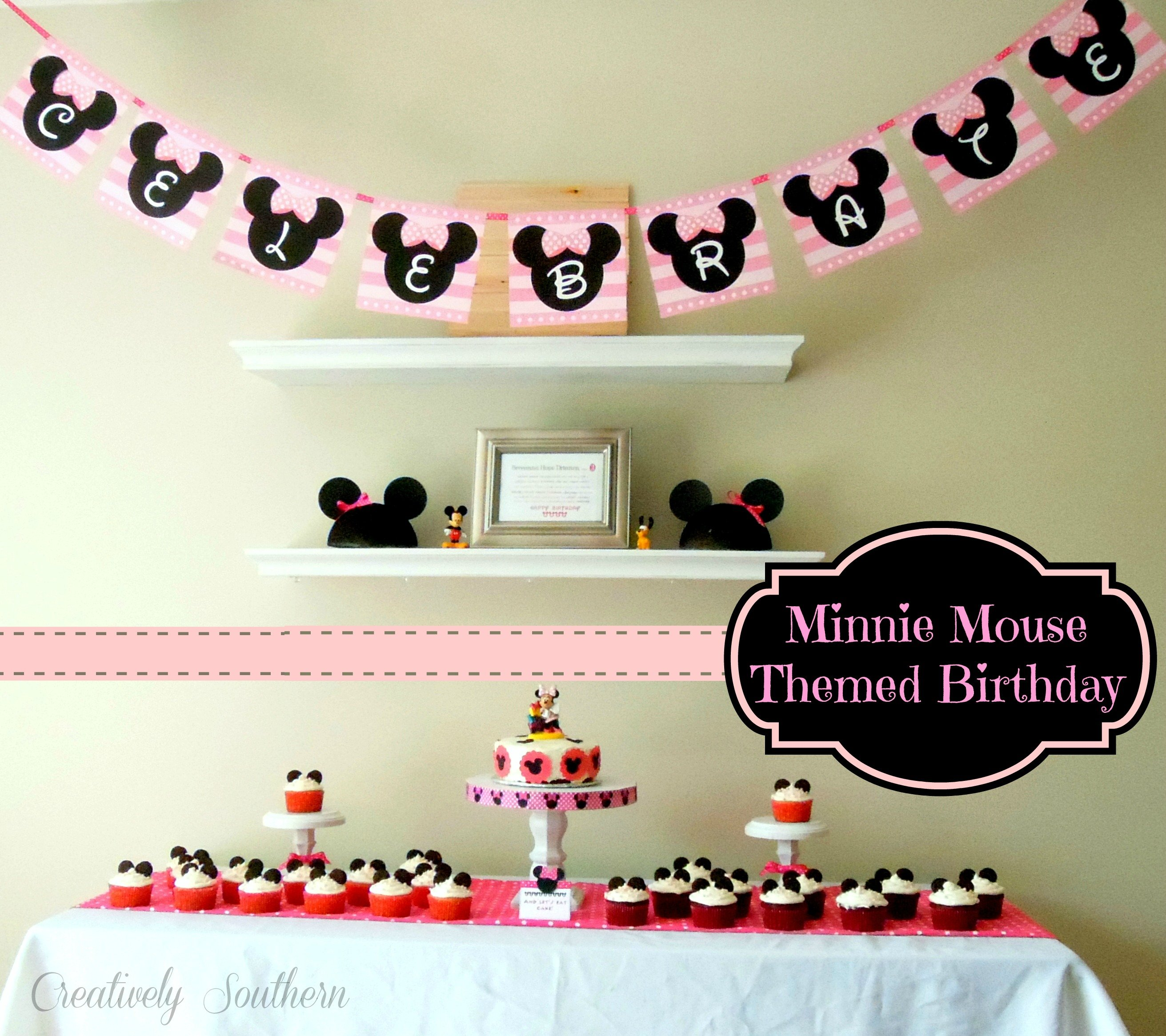 Minnie Mouse First Birthday Party Via Little Wish Parties: Minnie Mouse Themed Birthday Party