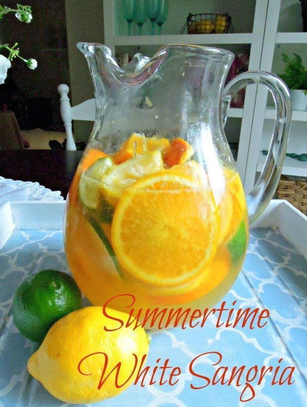 Slow Down With Simple Summertime White Sangria