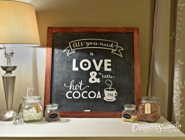 How to Make Chalkboard Signs with Silhouette Vinyl