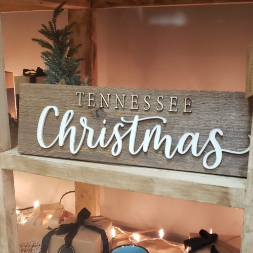 Tennessee Christmas handlettered sign