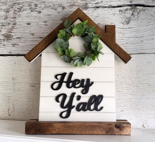Farmhouse Welcome Sign wreath