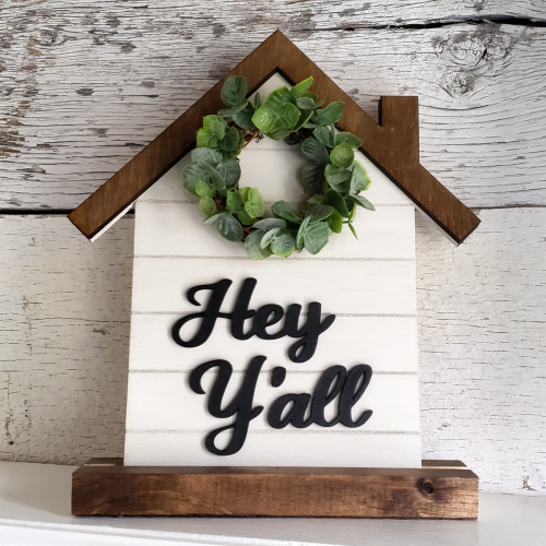 Farmhouse Welcome Sign wreath