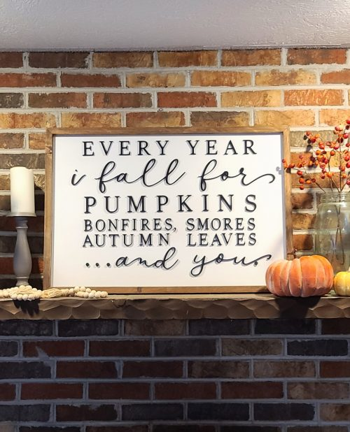 every year i fall for pumpkins bonfires smores leaves and you