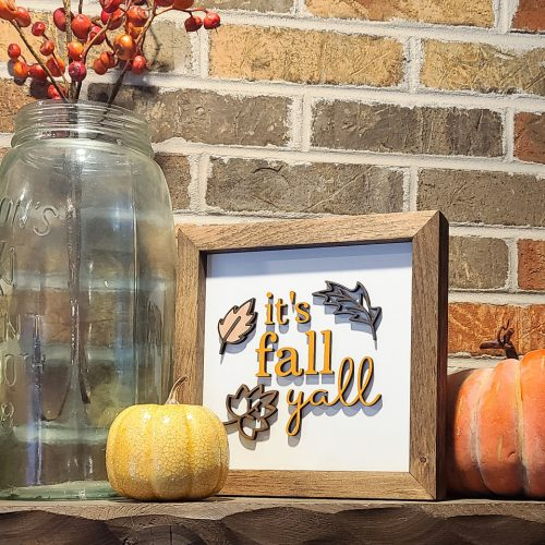 fall yall 3d sign