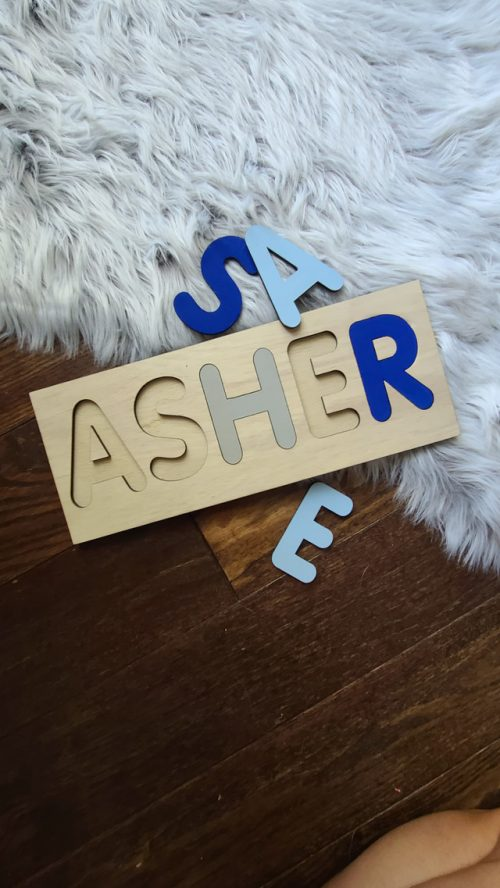 personalized wood name puzzle for kids