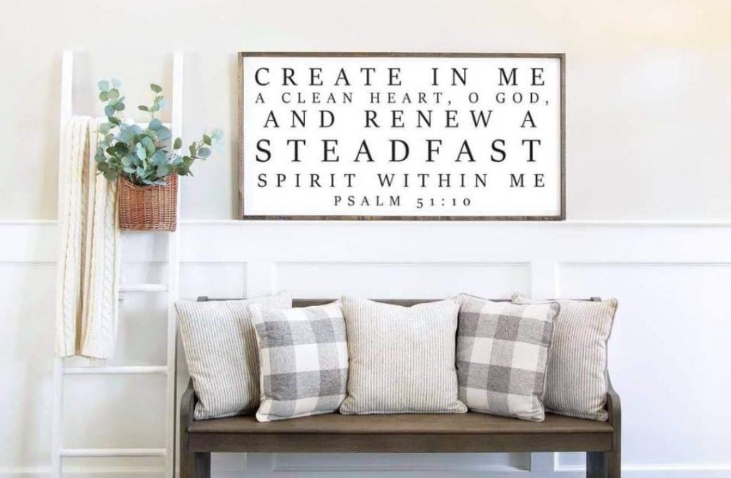 Bible Verse Wood Sign